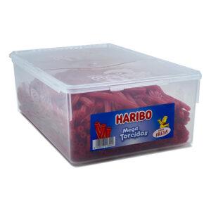Mega Torcidas Fresa Haribo 200 ud | Confisur Cash & Carry
