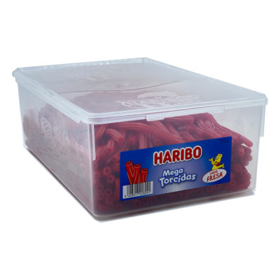 Mega Torcidas Fresa Haribo 200 ud   Confisur Cash & Carry